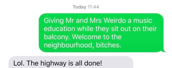 Entertaining Mr and MrsWeirdo.