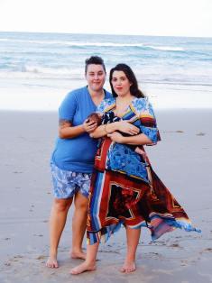 Eliza, Aunty Kaffy with Baby O