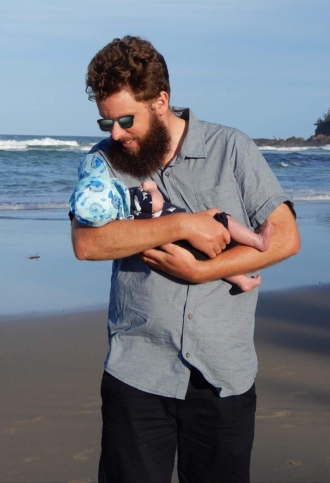 Daddy with Baby O